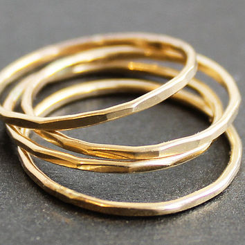 Skinny 14K Gold Filled Ring 1 Ring by sweetolivejewelry on Etsy