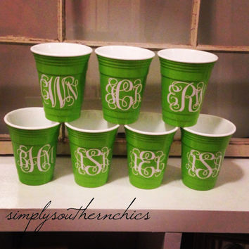 Solo Cup - Reusable - Monogrammed, Personalized