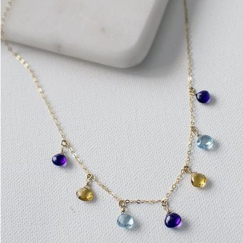 Petite Princess Stone Necklace