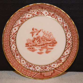 Royal Doulton Booth's Real Old Willow Bread & Butter Plate Vintage Red Willow Royal Doulton Mini Plate Pin Dish TC 1126 English Fine China