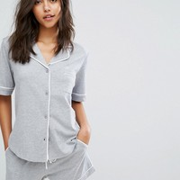DKNY Signature Short Sleeve Top PJ Set at asos.com