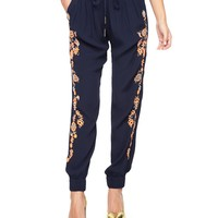 Embroidered Crepe Pant by Juicy Couture