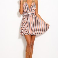 Out Of Town Dress Peach