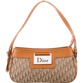Leather-Trimmed Diorissimo Pochette