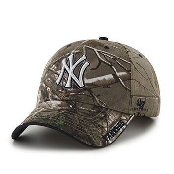 MLB New York Yankees Real Tree Frost Camouflage Adjustable Hat, One Size, Realtree Camo