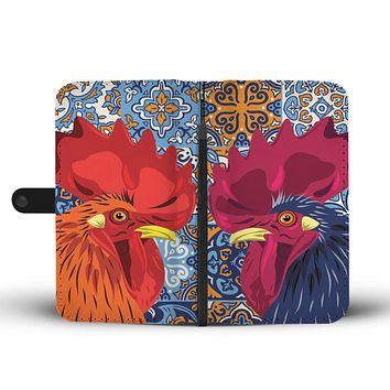 Ceramic Rooster Wallet Phone Case