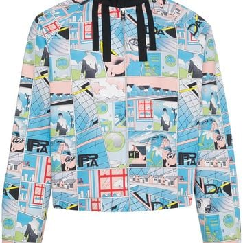 Comic Book Design Aesthetic Jacket by Prada