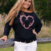 Antler Heart Stylish womens hunting clothing