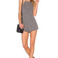 NBD Thank Me Later Romper in Heather Grey