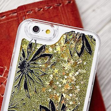 Free People Womens Cosmic Storm Liquid Glitter iPhone Case