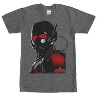 Ant-Man Red Eyes Gray T-Shirt