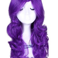50 Long Purple My Little Pony Rarity Wavy Cosplay Wig Cb27