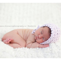Crochet Pattern for Vintage Star Baby Bonnet Hat - 5 sizes, baby to child - Welcome to sell finished items