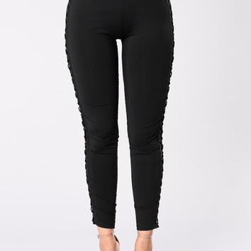 For The Record Pants - Black