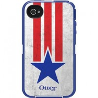 OtterBox Defender Series Case and Holster for iPhone 4/4S - Retail Packaging - Anthem Collection Star Stripes