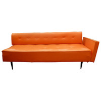 One Kings Lane - Vintage & Market Finds - Cose Belle Charleston - Mid-Century Modern Orange Couch