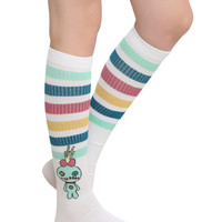 Disney Lilo & Stitch Scrump Varsity Stripe Knee-High Socks