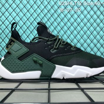 KUYOU N043 Nike Air Huarache 6 Drift 2018 Ultra Kint Fashion Running Shoes Green