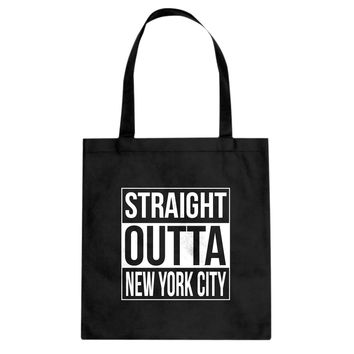 Straight Outta New York City Cotton Canvas Tote Bag