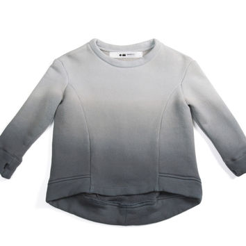 Omamimini Ombre Long Sleeve Tee - Charcoal