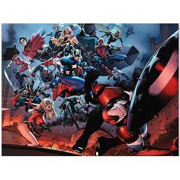 Siege #3 - Limited Edition Giclee on Stretched Canvas by Olivier Coipel and Marvel Comics