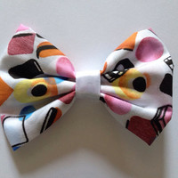 Cute Kitsch Liquorice Allsorts Hairbow - Pinup - Polycotton Hair Bow, Pin up, Fairy Kei, Sweets, Candy, Kawaii, Dolly Mix, Mixture, Scene