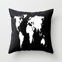 World Outline  Throw Pillow by Elyse Notarianni