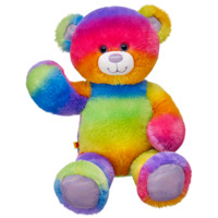17 in. Rainbow Glitter Teddy Bear