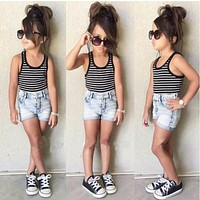 Baby Girl Clothing Sets Children Clothing born Baby Clothes Infant Kids Vest+Shorts