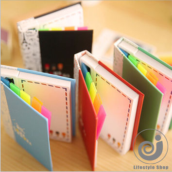 creative soldier hardcover combine memopad notepad stationery diary notebook office school supplies + pen