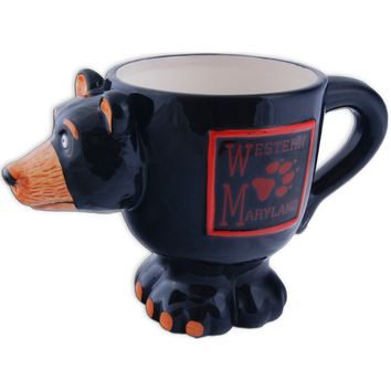 CMMD39 Coffee Mug Black Bear Shape Western Maryland