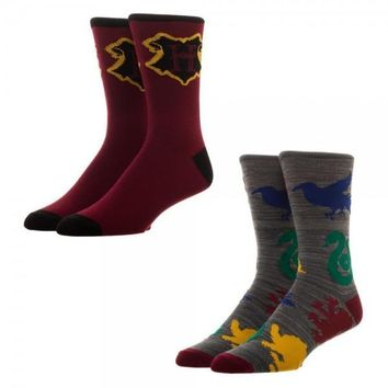 Harry Potter Crew Socks, Set of 2
