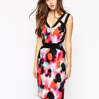 French Connection Pencil Dress in Miami Graffiti Print at asos.com