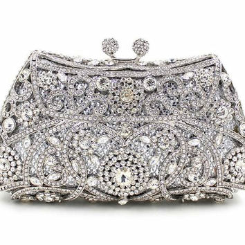 Luxury Evening Bags Ladies Crystal with Channel Women Clutches Purses Handbags
