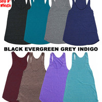 Womens VINTAGE CAMERA Tank Top --- american apparel Tri-Blend s m lg (8 Color Options)