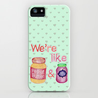 We're Like Peanut Butter & Jelly - cute food illustration iPhone & iPod Case by Perrin Le Feuvre