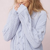 Plush Cable Knit Sweater