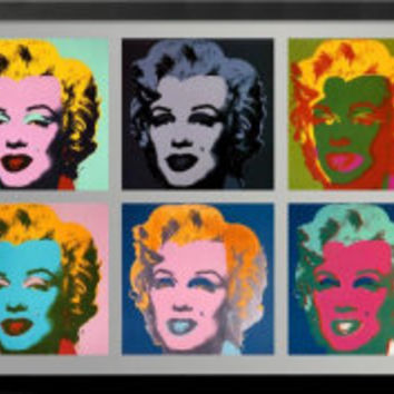10 Marilyns, 1967 Art Print by Andy Warhol at Art.com