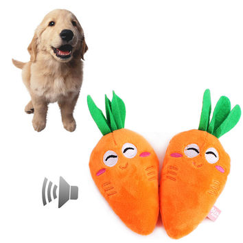Beautiful Carrot Dog squeaky toy Plush Carrot Style puppy Orange teething toys chew toy squeakers dog products 25