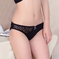 2016 top fashion Sale Solid Women Underwear bragas Thongs underwear women Briefs Sexy Lace Cotton Women's Panties