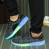 2016 New Fashion Casual Shoes Led Shoes Glowing  LED Men Women Fashion Couple Luminous Led Light UP Shoes for Adults Size35-45