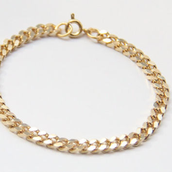 SPRING SALE - 20% OFF! Mini Gold chunky chain Bracelet - 24k gold plated