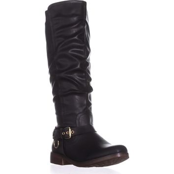 XOXO Mauricia Wide Calf Riding Boots, Black, 8 W US