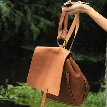 Revival Small Handmade Leather Backpack