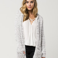 WOVEN HEART Multi Knit Womens Hooded Cardigan | Cardigans & Wraps
