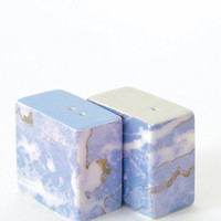 Marbled Salt and Pepper Shakers - Blue World | KOROMIKO