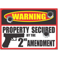 2nd Amendment Gun Bullet Warning Property Protection Security bumper sticker …