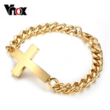 Vnox Classic Stainless Steel Bracelets For Men Br-135