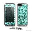 The Aqua Green Glimmer Skin for the Apple iPhone 5c LifeProof Case