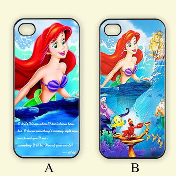 Little Mermaid,Custom Case, iPhone 4/4s/5/5s/5C, Samsung Galaxy S2/S3/S4/S5/Note 2/3, Htc One S/M7/M8, Moto G/X
